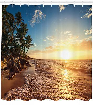 tropical beach theme sunrise morning exotic nature