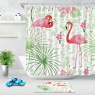 Tropical Plants and Flamingos Shower Curtain Bathroom Access
