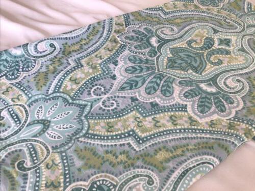 Tahari Green White Curtain