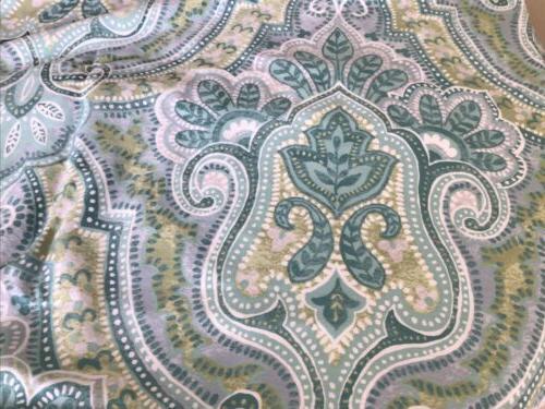 Tahari White Floral Fabric Curtain