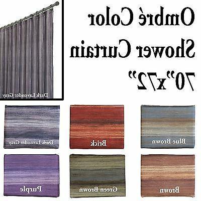 unique multi color ombre shower curtain