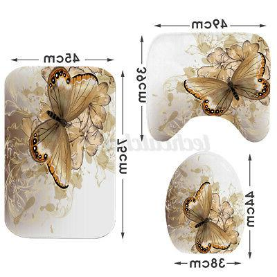 US Butterfly Anti-slip Pedestal Toilet Cover