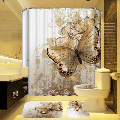 US Shower Anti-slip Bath Mat Lid Pedestal Toilet