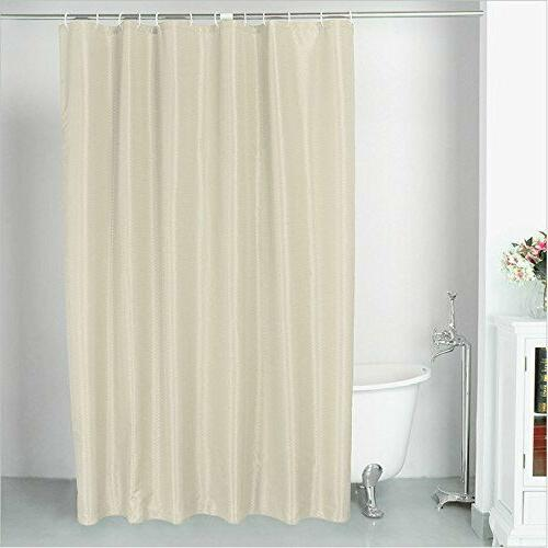 Waterproof Thicken Fabric Shower Curtain Liner Set with 12 H