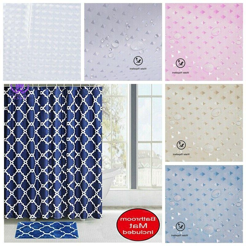 us fabric bathroom 3d shower curtain set
