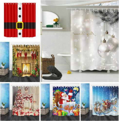 us fabric shower curtain set christmas ball