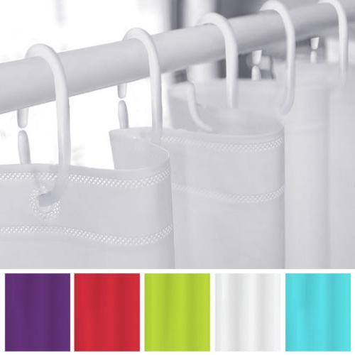 us solid waterproof bathroom shower curtain liner