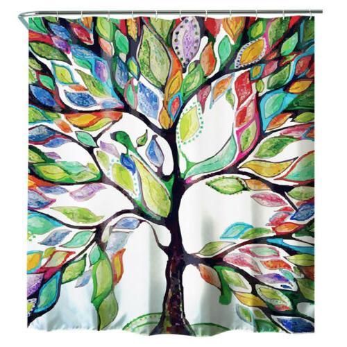 Stylish Curtain Set Fabric w/Hooks