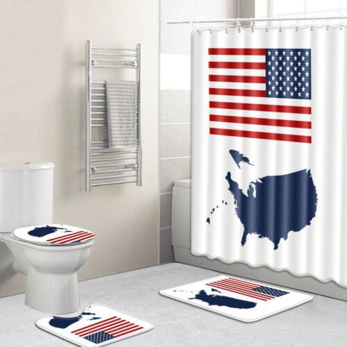 USA Shower Day Rug Mat Decor