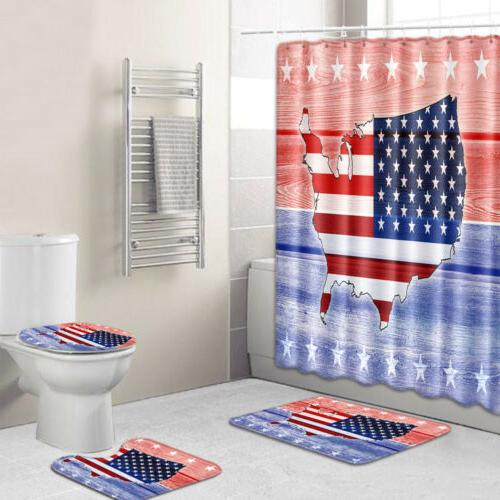 USA Shower Fourth July Day Rug Decor