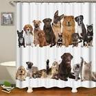 USA Seller- Dog Cat Pet Design Shower Curtain Waterproof Fab