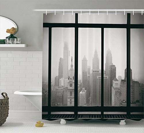 usa shower curtain house decor