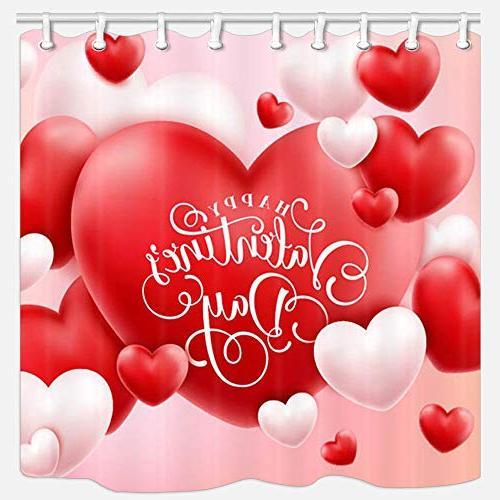 valentine day shower curtain
