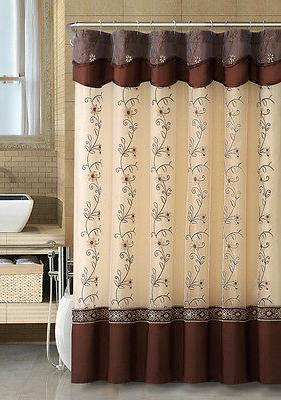 VCNY Daphne Sheer & Taffeta Fabric Shower Curtain