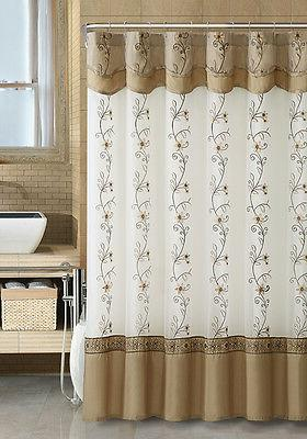 VCNY Daphne & Fabric Shower Curtain Assorted