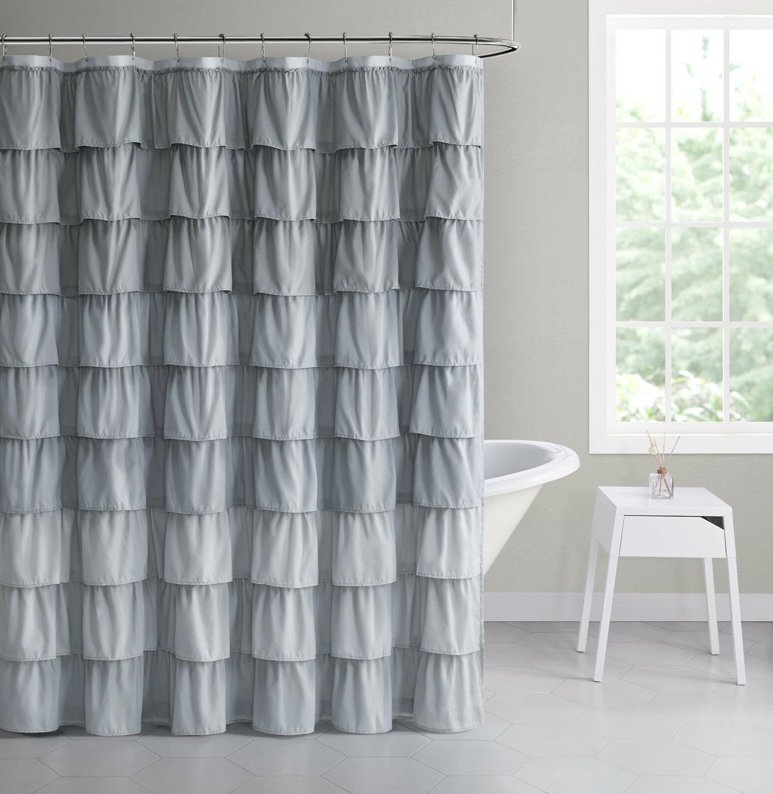VCNY Sally Gypsy Ruffled Fabric Shower Curtain - Assorted Co