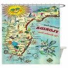CafePress - Vintage Florida Greetings Map - Decorative Fabri