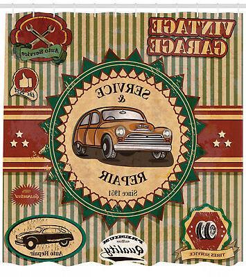 vintage garage theme old car repair labels