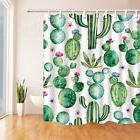 Vintage Shower Curtain liner Cactus Flowers Print for Bathro