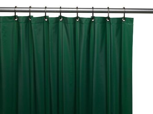 Vinyl Shower Curtain Liner, Evergreen
