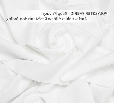 Volens White Fabric/Ruffle Bathroom,72in Long