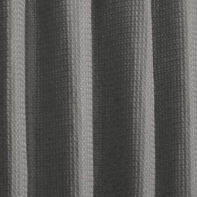 mDesign Waffle Shower Curtain - Long