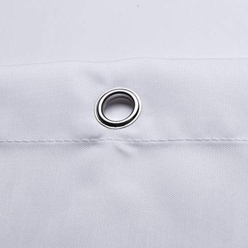 72 Shower Water Repellent Fabric Mildew Curved - Extra Long, Pure White