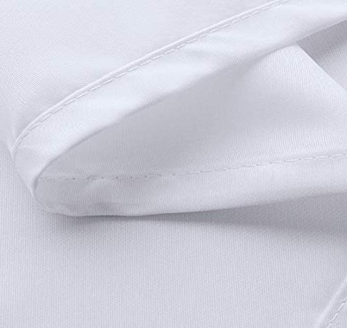 72 x Shower Liner Water Fabric Cloth Mildew Curved Hooks - Extra White