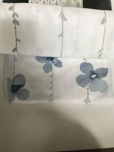 Tahari Watercolor Fabric Curtain White Gray