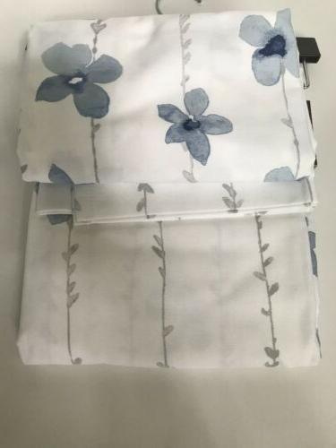 Tahari Fabric Shower Blue White 72x72
