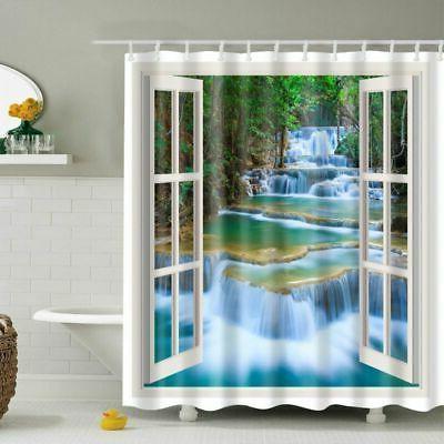 Waterproof Shower Print Decor