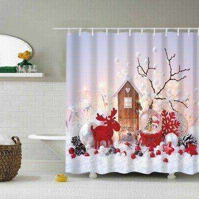 Waterproof Fabric & 12 Hooks Mat Christmas Snowman Tree