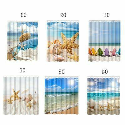Shower Beach Sea Net Theme Bathroom Decor