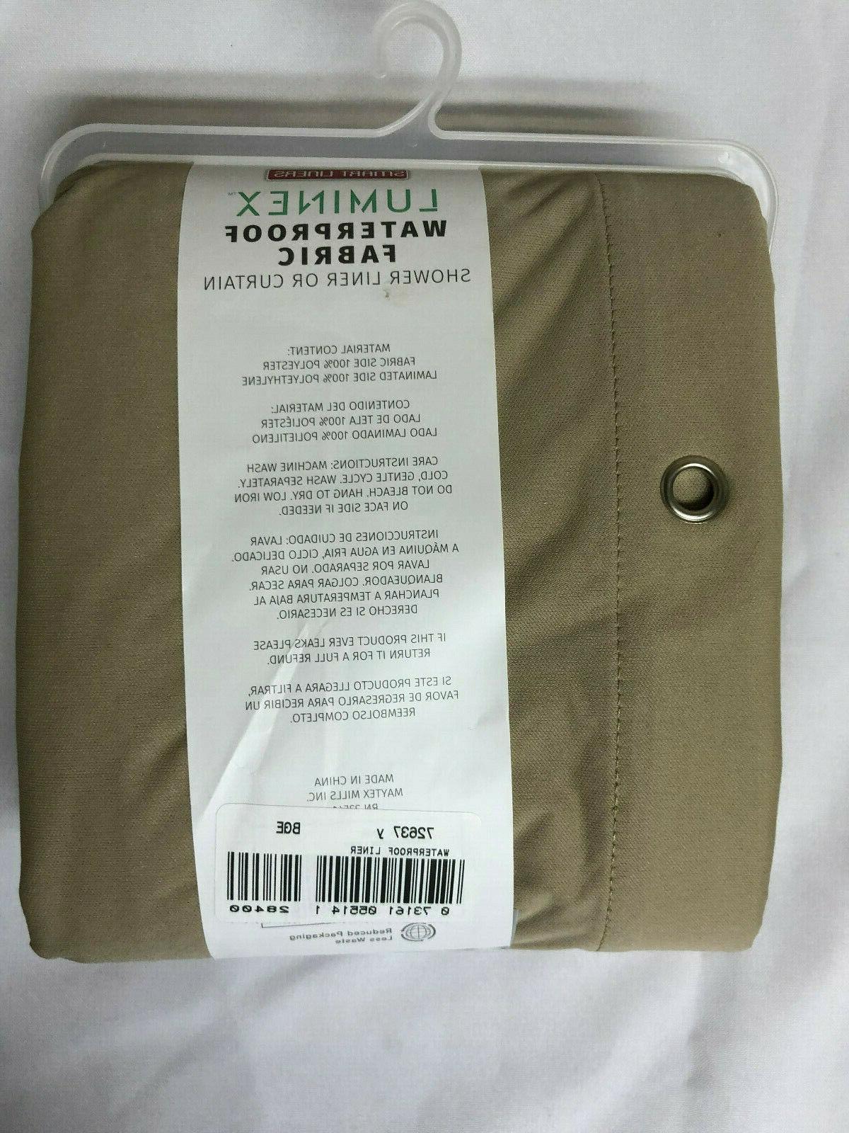 Maytex Fabric Shower Curtain or Beige