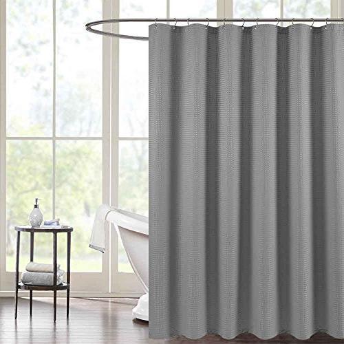 Waterproof Shower Curtain Grey 72 Waffle Weave Bathroom Shower Curtain Mildew