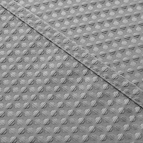 Waterproof Fabric Shower Grey Waffle Weave Bathroom Shower Mildew