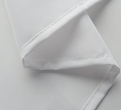 Mrs.Awesome Water-Repellent Mildew Fabric with mesh pockets White - 9 Toxic, Odor, Rust Proof Grommets
