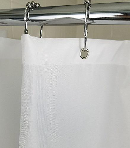 Waterproof as Resistant Shower Liner, 70 x 96 Inch Extra Long -
