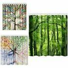 Waterproof Scenery Trees Pattern Bathroom Shower Curtains Wi