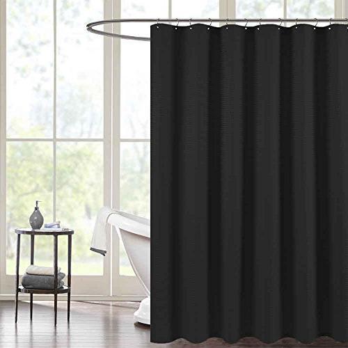 Waterproof Shower Curtains For Bathroom Antibacterial Black