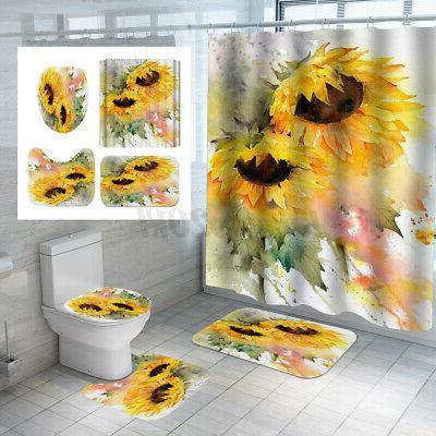 Waterproof Sunflower Bathroom Rug