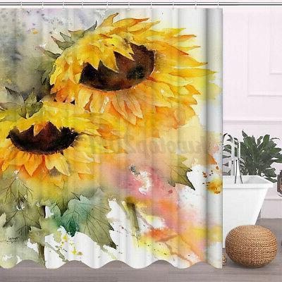 Waterproof Sunflower Bathroom Toilet Cover