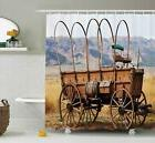 Ambesonne Western Decor Shower Curtain Set, Photo of Old Nos