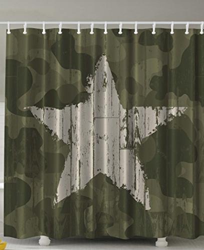 western khaki camouflage shower curtain