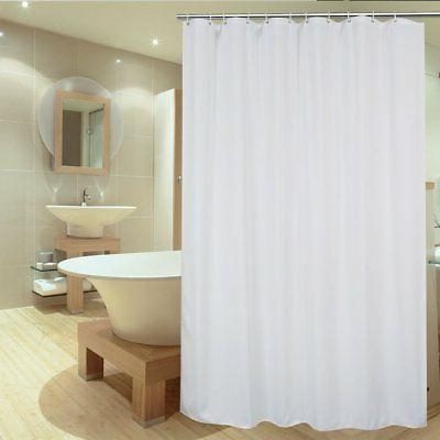 white polyester fabric shower curtain