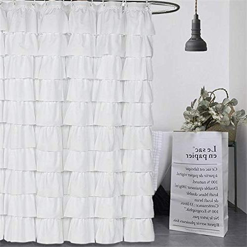Volens White Shower Fabric/Ruffle for