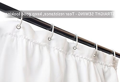 Volens White Curtain Fabric/Ruffle