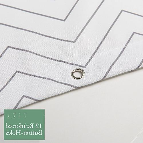 White Shower Curtain Mildew for Bathroom x 72-inch