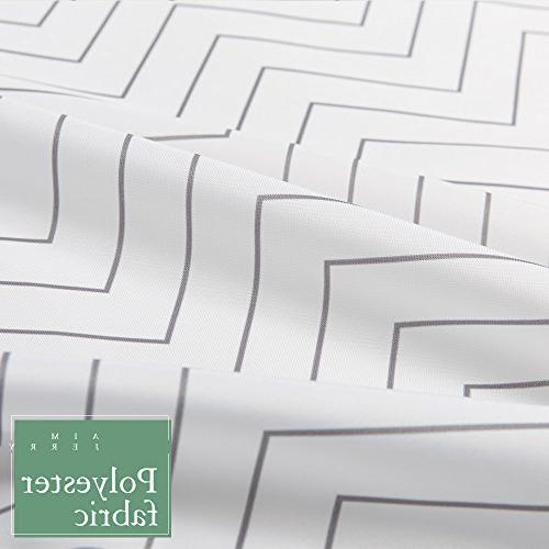 White Striped Shower Curtain Mildew for x