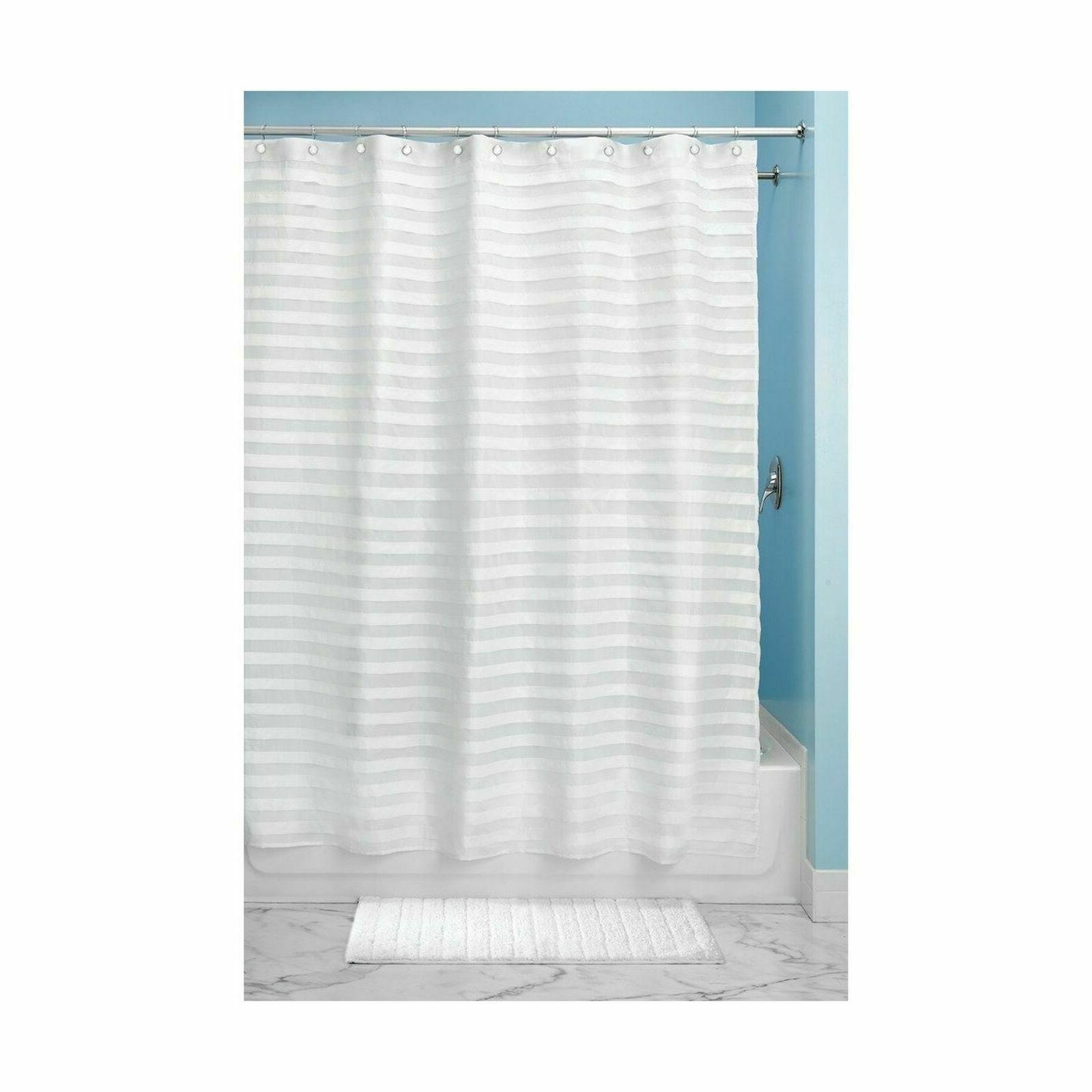 white tuxedo shower curtain